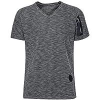 Camisa Manga Corta Hombre Estampada, Manadlian Camisa De Manga Corta con Cuello En V para