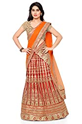 NAAIDAAKHO RED AND ORNAGE COLOR LEHENGA CHOLI