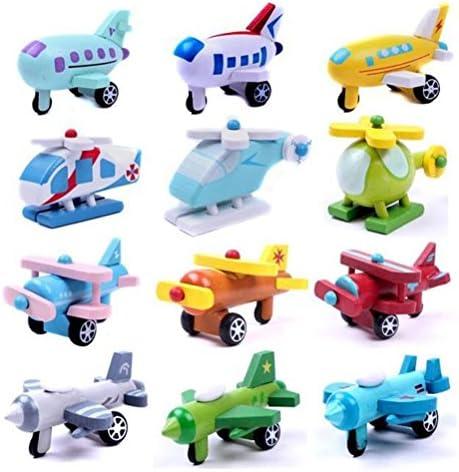 Toyvian 12pcs retirent Les modèles d'avion Petits modèles d'avion pour Jouet éducatif précoce pour d'avion  s  s Jouant 7208f4