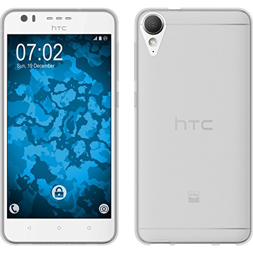 PhoneNatic Case für HTC Desire 10 Lifestyle Hülle Silikon Crystal Clear transparent Cover Desire 10 Lifestyle Tasche + 2 Schutzfolien