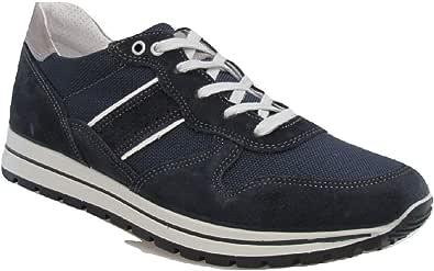 Imac Scarpe Uomo camoscio Sneakers Primavera Estate Casual Sportive Blu 303261