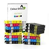 Colour Direct 15 XL Hoher Kapazität Kompatibel Druckerpatronen Ersatz für Epson Expression Home XP102, XP202, XP212, XP215, XP205, XP30, XP302, XP305, XP312, XP315 XP402, XP412, XP415, XP405, XP405WH, XP225 XP322, XP325, XP422, XP425 Drucker 6 Schwarz 3 Cyan 3 Magenta 3 Gelb
