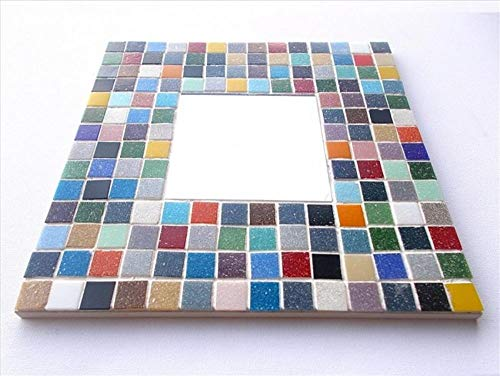 Mosaic Mirror kit Large 30 x 30cm Elmer. Mosaic Arts and Crafts Mirror kit for Children, Adults, Schools. Vitreous, Iridescent, Porcelain Tile Hobby Kits for Beginners and Professionals Alike.