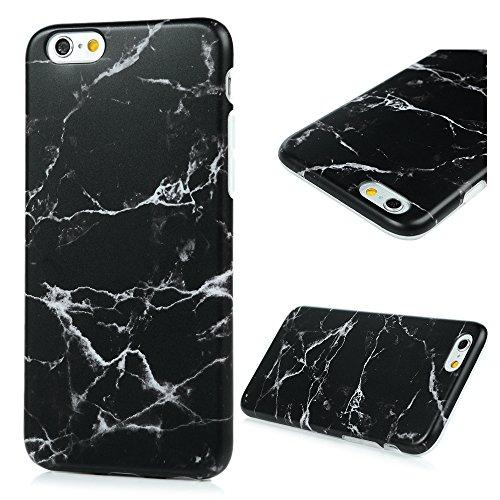 iPhone 6 6s Marmor Handyhülle, KASOS Marble Hülle Soft Case mit IMD Technologie,Schwarze Streifen