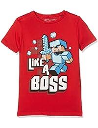 Minecraft Like A Boss, T-Shirt Garçon