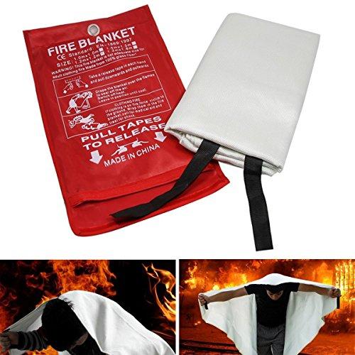 Preisvergleich Produktbild Löschdecke 120x120cm 0.5mm Brandschutzdecke Feuerlöschdecke Hitzeschutzdecke Erste Hilfe