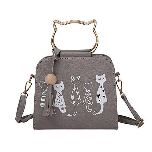 LMRYJQ Animal Messenger Tasche Damen Handtaschen Cat Rabbit Pattern Schulter Crossbody Tasche