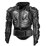 HHHKKK Motorbike Full Body Armour, Protective Gear Jacket Pro Street Sport Motocross ATV MTB Racing Shirt Jacket Protector with Chest Back Protection for Men (Black)