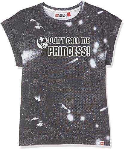 Heiße Mädchen T-shirt (LEGO Wear Mädchen Star Wars Tallys 352-T-Shirt Grau (Dark Grey 984), 140)