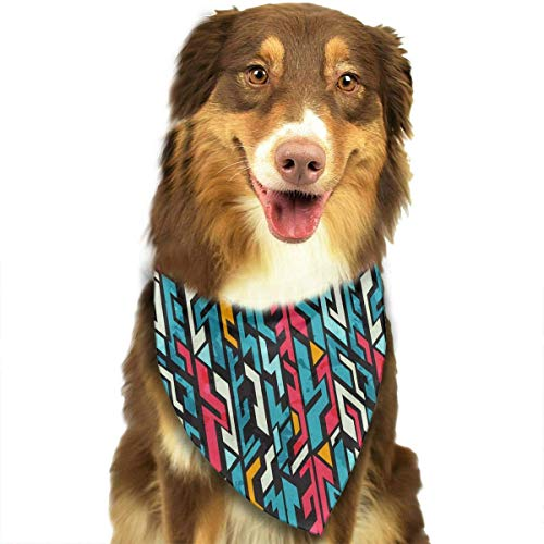 Sdltkhy Abstract Graffiti Triangle Bandana Scarves Accessories for Pet Cats and Dogs - ()