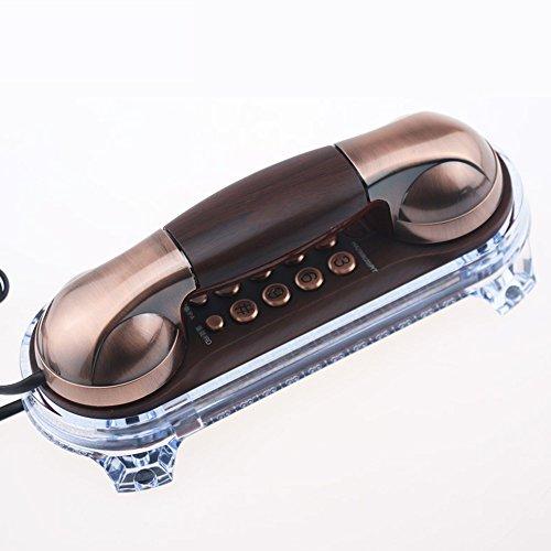 MMM- Retro / Antik / Klassisch / Massivholz / Wand-montiert / Telefon / Key Dial / eingehenden Anruf Light Wired Telefon aus Holz und Alloy (Größe: 19.5 * 8cm) Europäische Festnetz-Telefon ( Farbe : B )