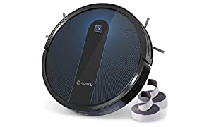 Coredy R650 Robot Vacuum Cleaner, Boost Intellect, 1600Pa Power Suction, Boundary Strip Included, Ultra Slim, Quiet, Self-Charging Robotic Vacuum, Cleans Pet Hair, Hard Floors and Carpets