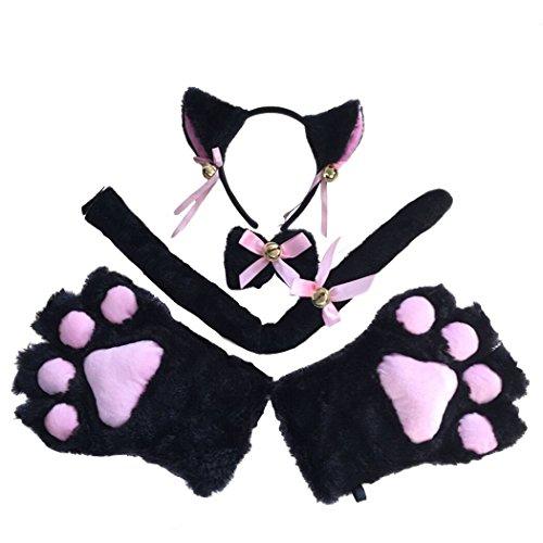 FORLADY Haarband Katze Ohr Katze Claws Anzug mit -
