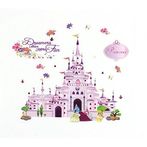 sourcingmap-fleur-motif-chateau-de-princesse-sticker-mural-autocollant-amovible-en-vinyle-papier-pei