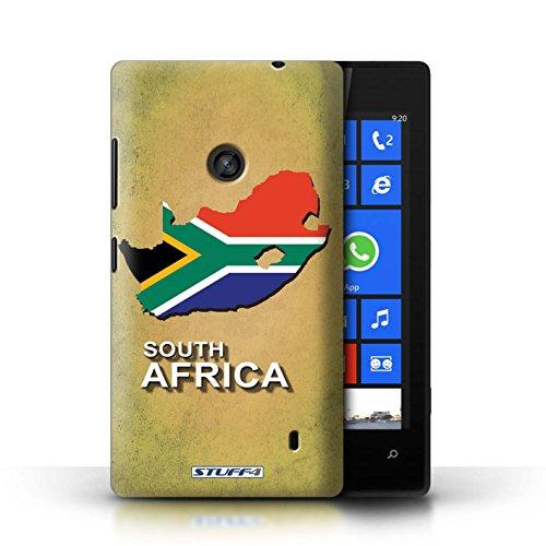 Kobalt® Imprimé Etui / Coque pour Nokia Lumia 520 / Irlande/irlandaise conception / Série Drapeau Pays Afrique du Sud/Afrique