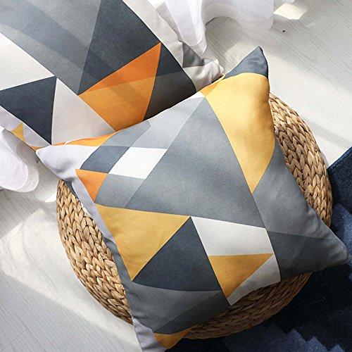 Drizzle Funda de Almohada Patrón de Triángulo Geometría Square Impermeable Lavable Diseño de Comedor...
