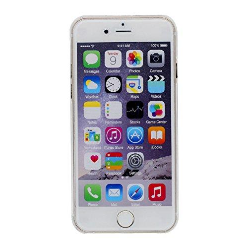 """Niedlich Karikatur Einhorn Serie - Schwer Transparent Hülle für Apple iPhone 6S 4.7"""", iPhone 6 Case Handyhülle Flüssiges Wasser Stil Brillante Powder / Sterne Fließen Entwurf Stil Color-2"""
