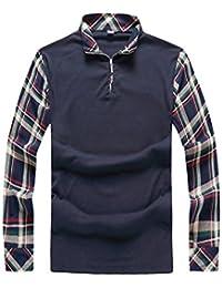 629743603d091 Gladiolus Camiseta para Hombre Polo de Manga Larga Polo Shirt Moda Camiseta  de Deporte Camisa de
