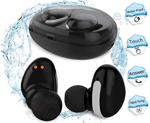 MorePro drahtlose Bluetooth Kopfhörer, wasserdichte Mini-Hi-Fi-Stereo-Ohrhörer Sport-Headset In-Ear-Mic & Car Ohrhörer Ladebox Apple iPad MacBook Samsung Smartphone / iOS / Android