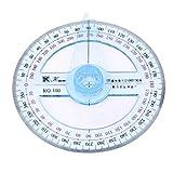 LWANFEI Mignon Rapporteur d'angle Portable 360 degrés pour l'école et Le Bureau