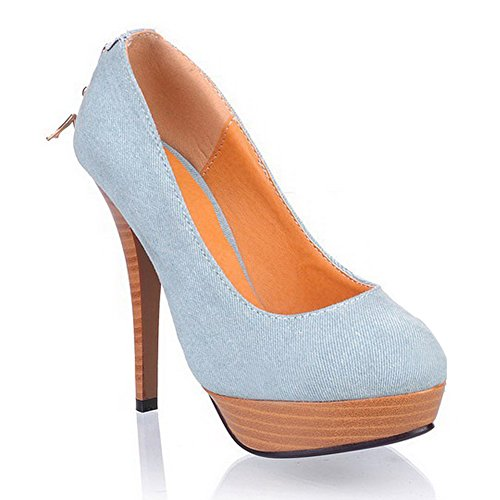 Adee , Damen Pumps Hellblau