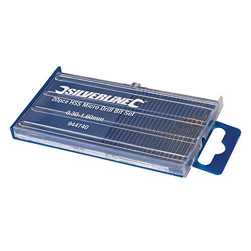 Silverline 944740 Coffret de 20 micro-forets acier HSS