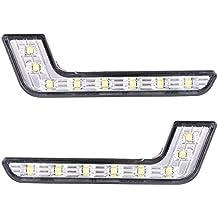 2x 8 LED Bianco Impermeabile Auto Luci Diurne Daylight Running Light LED DRL dell'automobile Luce Lamp Luci Antinebbia MA145
