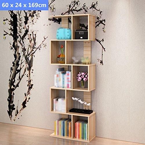 DFHHG® Librería Librería Combinación Librería Creative S Type durable ( Tamaño : 60*24*169cm )