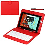 Navitech Rote Hülle / Case / Cover mit deutschem Qwertz Keyboard mit Micro USB für das Nexus 9 Tablet