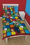 Super Mario World Disney Kinder Bettdecke für Einzelbett Und Kissenbezug Set