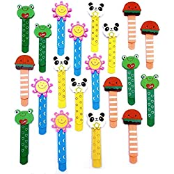 JZK 20 Madera marcapáginas página clip animal marcapáginas marcador libro para niños favores partido fiesta niños rellenos bolsas regalo cumpleaños regalo navidad