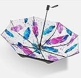 Women es Sonnenschutz Schirm UV-Schutz Sonnenblende Isolierung manuell Klapp Schirm Sonnenschirm, B