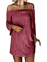 BBestseller-Vestidos Falda Larga de Fiesta Mujer Largo Mujer para Noche y Fiesta Casual Ropa