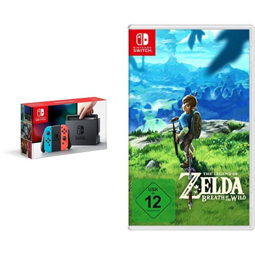 Nintendo Switch Konsole Neon-Rot/Neon-Blau & The Legend of Zelda: Breath of the Wild [Nintendo Switch]