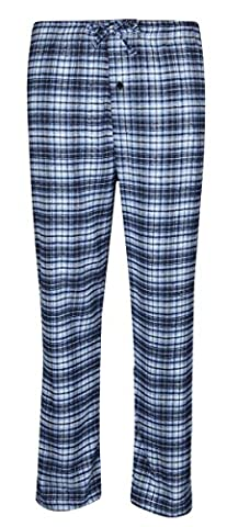 MENS PYJAMA BOTTOMS SOFT WARM 100% COTTON FLANNEL LOUNGE PANTS