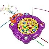 Electric Magnetic Pesca de Juego de Mesa de Música de Rotación de...
