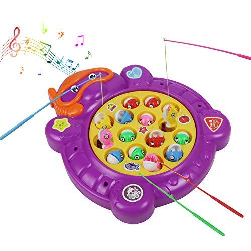 Electric Magnetic Pesca Juego Mesa Música Rotación