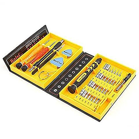Homeself 38 pièces de tournevis de précision Outil de réparation pour réparation de iPhone, téléphones Android, tablettes, ordinateurs, produits
