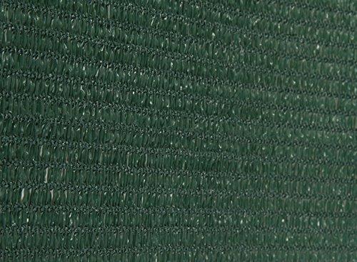 AGROFLOR filet brise vue pour le balcon ou la terrasse, avec bords renforcés et œillets toutes les 50 cm, 100% résistant aux UV, couleur: vert, Taille: 0,75 x 25 m
