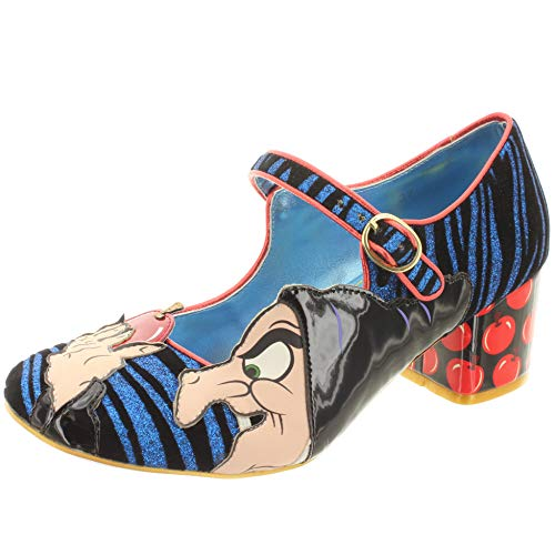 Disney Snow White Schneewittchen Damen Mary Jane Pumps An Apple A Day 3908-12A (39 EU, Blue/Red) -
