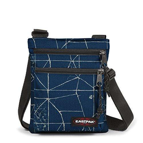 Eastpak Rusher Sac bandoulière, 23 cm, Bleu (Cracked Blue)