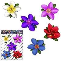 Adesivi per auto plumeria frangipani plumeria monocolore multicolore - ST00041MC_SML - Adesivi JAS