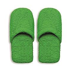Idea Regalo - Excelsa Bagno Caldo Pantofole Da Uomo, Spugna, Verde, 30x12x5 cm