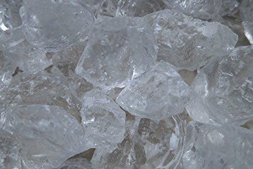 pemmiproducts Dekoeis, Deko Eiswürfel 25-30 mm, 1 kg, Winterdekoration, Eisimitat, Natur, Klar