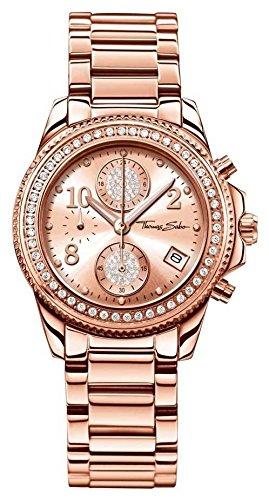 Thomas Sabo Reloj Cronógrafo para Mujer de Cuarzo con Correa en Acero Inoxidable WA0218-265-208-33