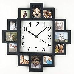 Idea Regalo - Orologio con cornice fai da te, orologio da parete moderno, cornice in plastica con collage di foto, decorazione per la casa, per realizzare un orologio multi foto
