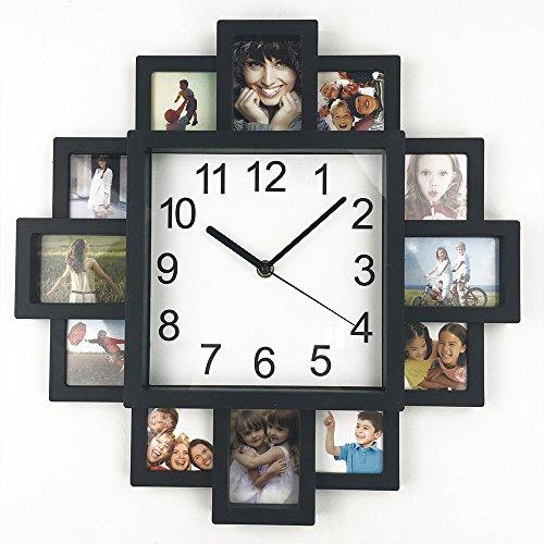 TimeLike DIY marco de fotos, reloj, DIY reloj de pared diseño moderno DIY reloj plástico reloj Art imágenes único Klok decoración del hogar–hacer su propio–Mar