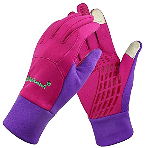 Magic Zone Unisex Fleece Windproof Winter Outdoor Cycling Gloves Touchscreen Gloves for SmartPhone