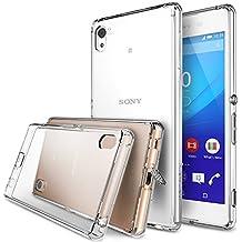 Xperia Z3+ Custodia - Ringke FUSION ***Tutto Nuovo Polvere Copertura Cap & Cadere Protezione*** [Gratis HD Screen Protector][CRYSTAL VIEW] Primium Cristallo Chiaro Posteriore Shock Assorbimento di Difficile Paraurti con Gratis HD Screen Protector per Sony Xperia Z3+ / Z3 Plus (Non per Z3 / Z3 Compact / Z3 Dual / Z3v / Z3 Tablet)- Eco/DIY Pacchetto