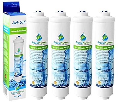 4x AquaHouse AH-UIF Kompatibel Universal Kühlschrank Wasserfilter passt für Samsung